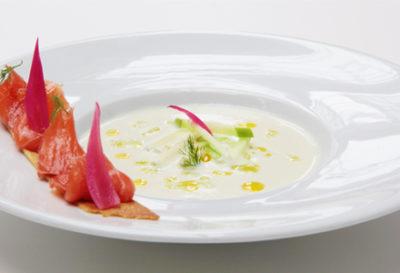 sopa fría de pepino e hinojo